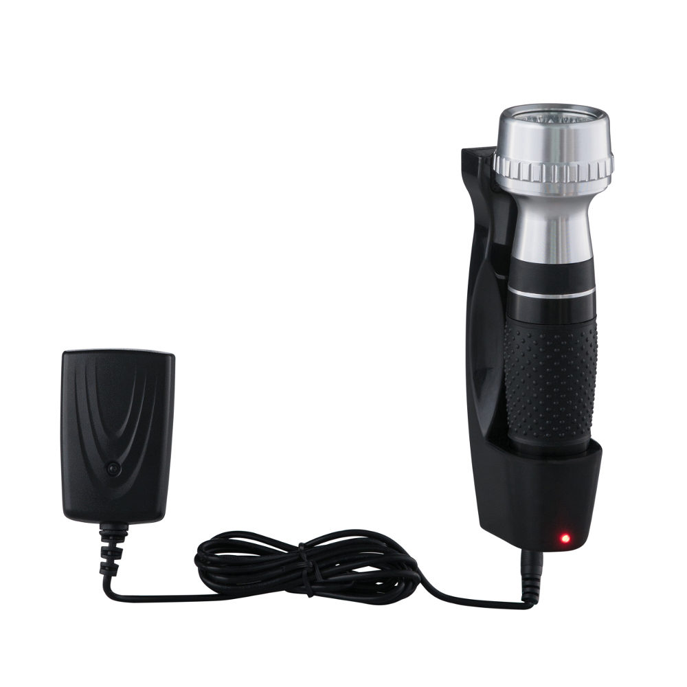 BRILLIANCE Emergency Torch, Rechargeable, Black