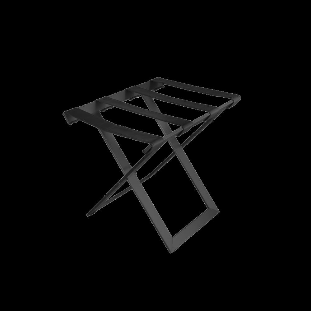Modern metal Luggage rack black