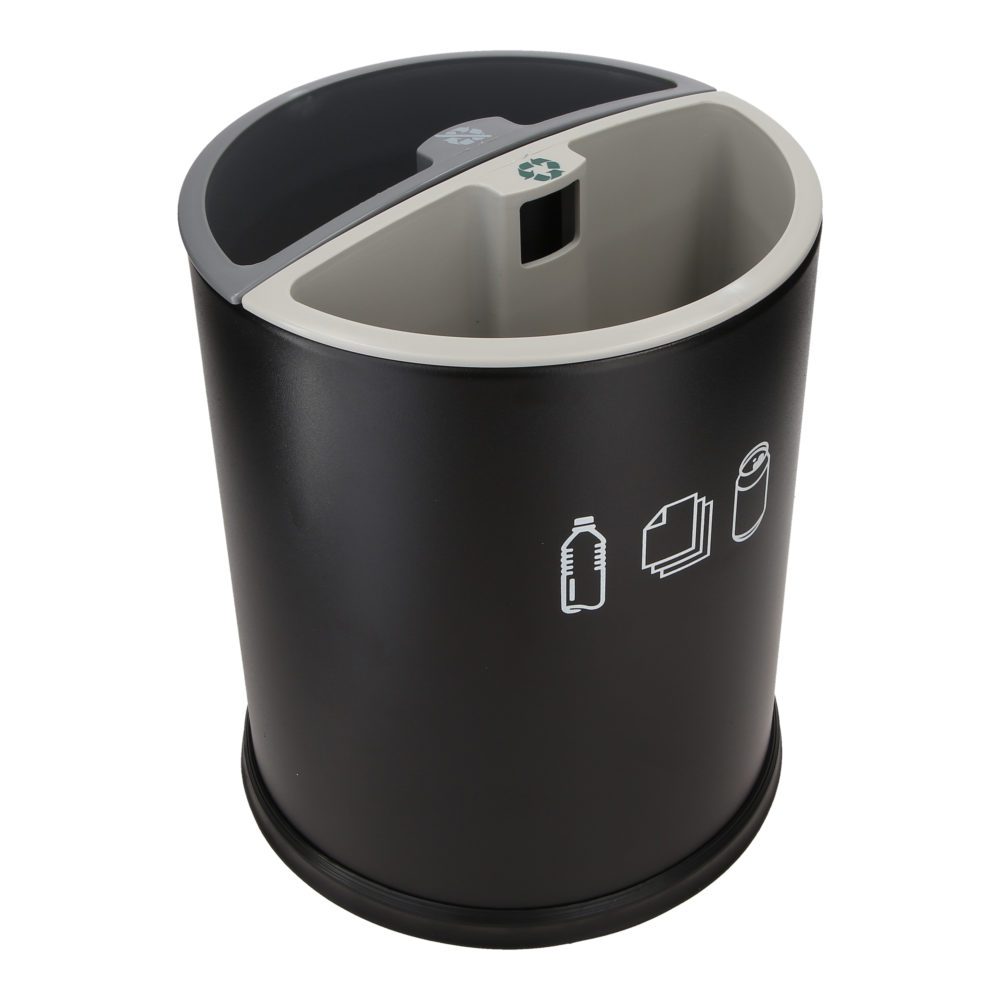 Round sorting bin – 2 containers