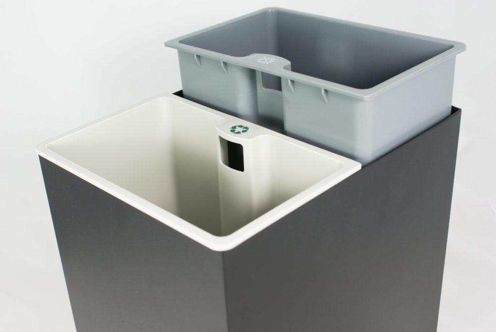 Rectangular sorting bin – 2 containers